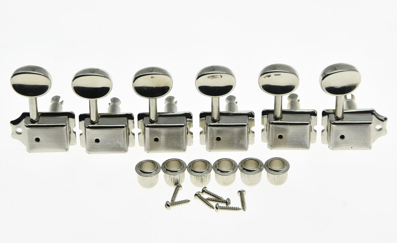 KAISH Vintage Guitar Tuning Keys Guitar Tuners Machine Heads Nickel fits ST TL