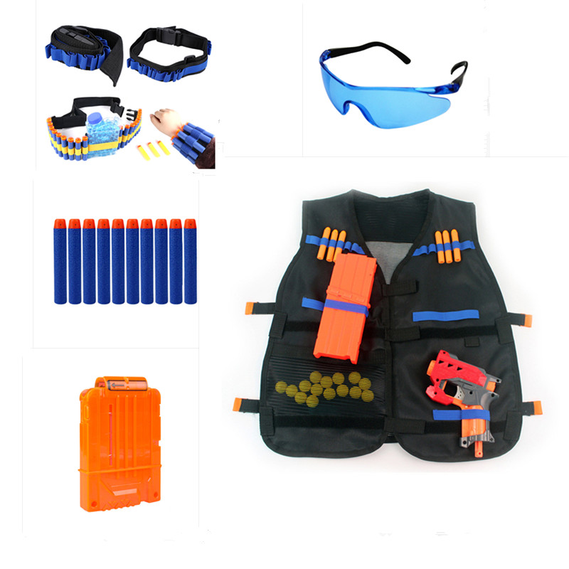 Hunting Shoting Goggle Bullet Clip Target Gun Bullet Clip Electric Target For Nerf Toy Gun Tactical Accessories TSLM1