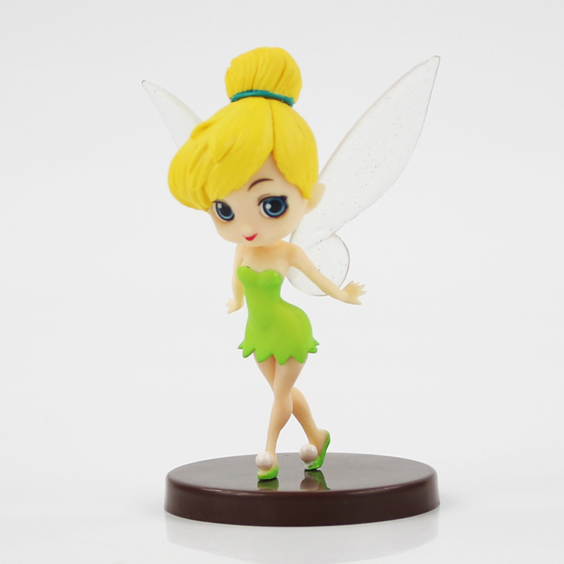Q posket Disney Princess Peter Pan Tinker Bell Action Figure Toy Girl Gift Decor