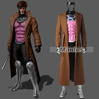 X Men Gambit Costume Cosplay Marvel Comics Superhero Outfit Remy LeBeau Cosplay Costume Halloween Male Custom Made Adult Men