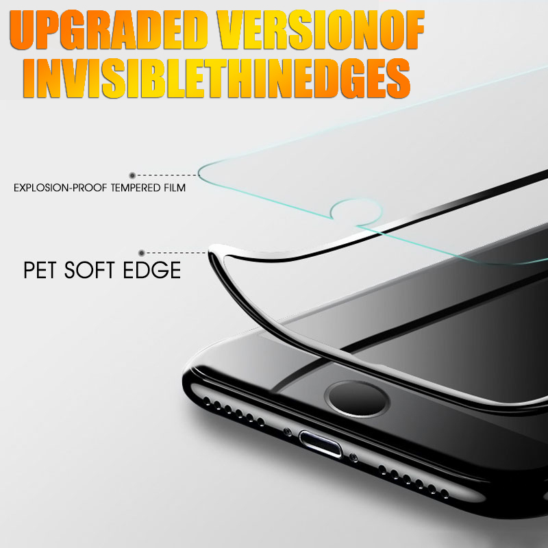 15D Protective Tempered Glass On The For iPhone 6 6s 7 8 Plus X 10 Glass Screen Protector Soft Edge Curved For iPhone XR XS MAX