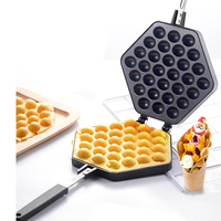 22%,Egg Waffle Cake Mold Cake Pan Nonstick Biscuits Muffin Mould Pot Bakeware Baking Tools Commercial/home Easy clean 30 holes