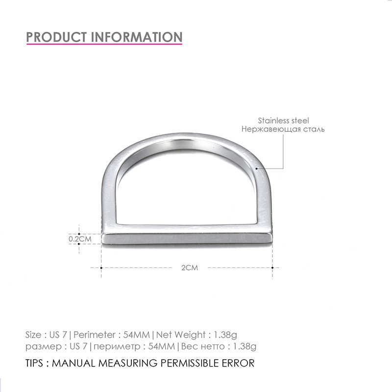 CC สแตนเลส Accessorie หิน kpop แหวน minimalist D statement dainty midi baguette แหวนแฟชั่นเครื่องประดับ