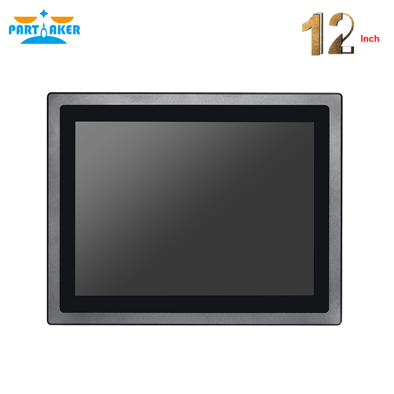 Купить с кэшбэком 12 Inch LED IP65 Industrial Touch Panel PC All in One Computer Capacitive touch screen PC With J1800 J1900 3855U i5 i7 CPU