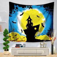 New Polyester Halloween Mandala Wall Hanging Printed Decorative Wall Tapestries Cloth Bedspreads Round Beach Blanke