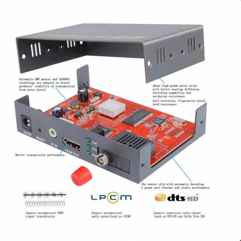 新しい HDMI 光ファイバーエクステンダーコンバータ 20km オーバー TCP IP 1080 1080P HDMI 繊維光学伝送 SC/ FC 繊維ケーブルサポート IR