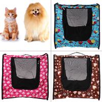 Pet Carrier Breathable Collapsible Dog Cat Travel Bag PVC Mesh Kennel House For Small Dog Cats