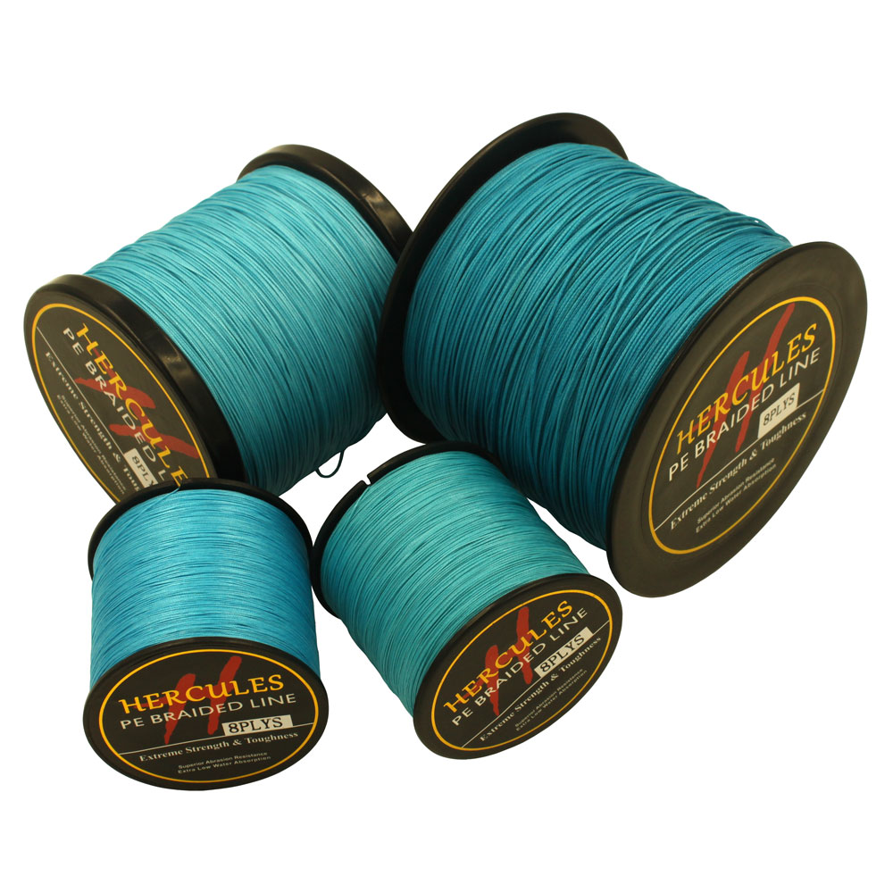 Hercules 10LB 300LB 500M Hercules100 PE Extreme 8 Strands Braided Fishing Line Sea Saltwater Fishing Weave in Fishing Lines from Sports Entertainment