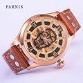 Homens de Relógios de luxo Safira Parnis 43mm Ouro Caixa de Aço Inoxidável Movimento Automático dos homens relógio de Pulso Mecânico