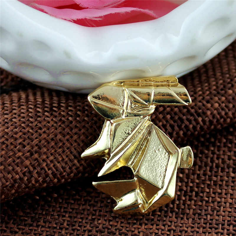 XQ Emas Putih Kuda Kelinci Crane Hewan Kucing Kerah Jarum Fashion Wanita Perhiasan Paduan Seng Lencana Bros Aksesoris Wanita