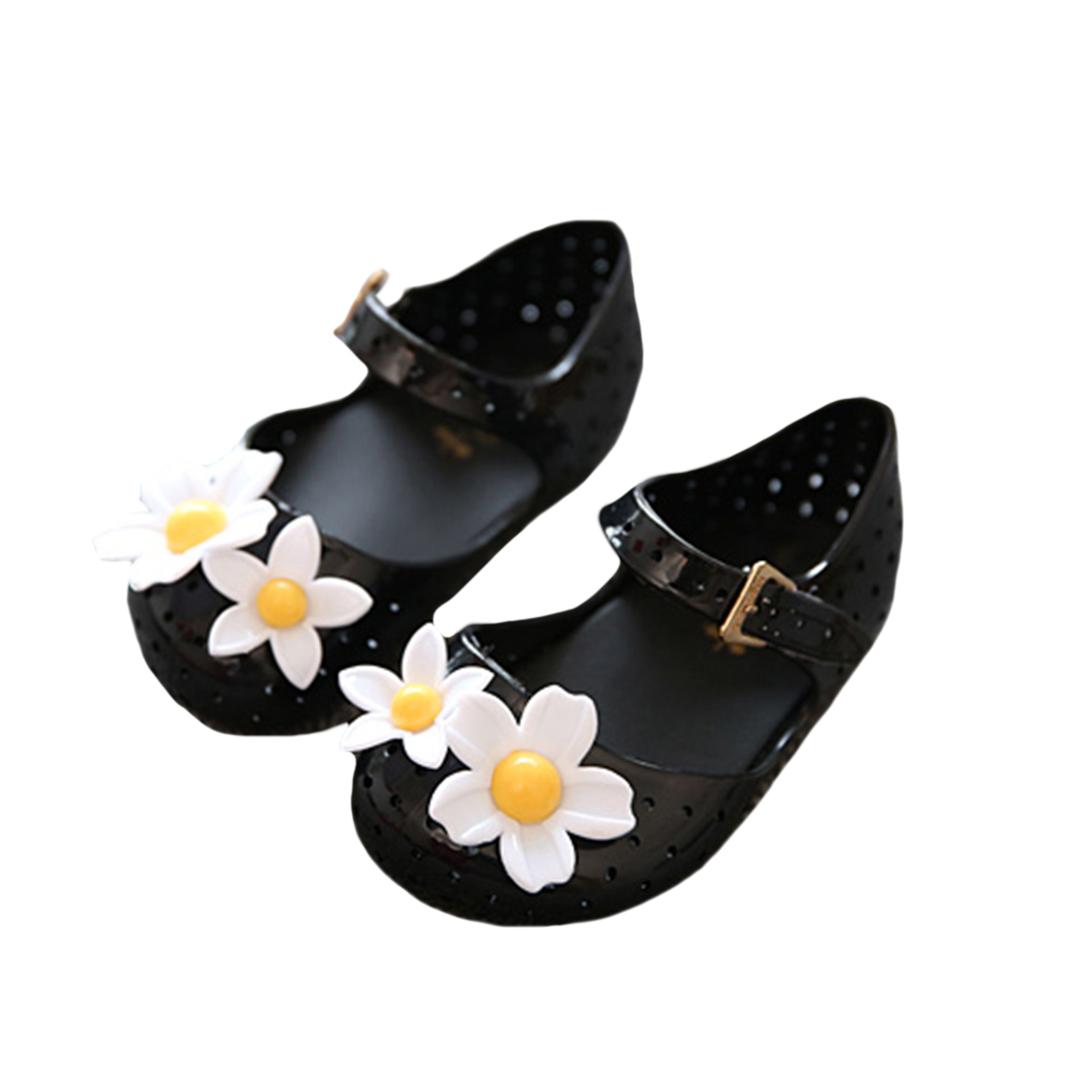 Black sandals baby girl - 2016 Baby Girl Shoes Flower Children Beach Sandals Cute Toddler Hollow Jelly Shoes For Girls Summer Autumn Black Pink