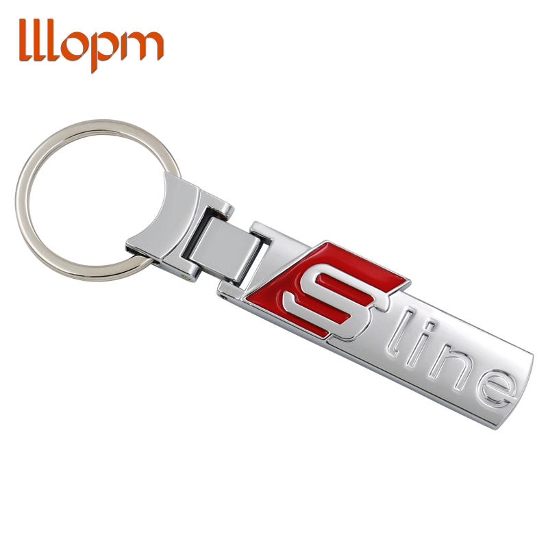 Zinc Alloy Metal Fashion S line Sline metal car logo key ring chain keychain keyring for audi A3 A4 A6L Q3 Q5 Q7 S3 S6 RS брызговики на ауди q5 s line