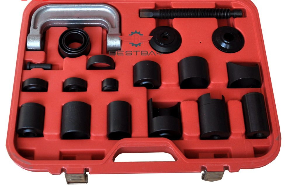 21 Pcs Master Adaptor Set Ball Joint Service Kit C Press Truck Car Ball Joint Kit Remover Installer Car Repair Tools new 4 in 1 ball joint auto remover installer tool service 2 & 4wd auto repair brake ball joint c frame press service kit