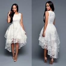 Купить с кэшбэком 2019 Summer Asymmetrical Long Dress Organza White Dresses Evening Party Beach Dresses Robe Longue Femme vestidos irregular
