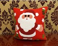 Red Crewel Embroidery Santa Claus Snowman Bolster, Christmas Gift