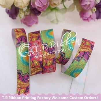 """Новая модель! бесплатная доставка 5/8 """"Пейсли отпечатано раз по сравнению elastic для волос галстук, завод прямых продаж, 100 метров/много"""