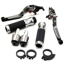 motorcycle brake levers 22MM handle bar grips ends For Suzuki GSXR GSX-R 600 750 1000 K1 K2 K3 K4 K5 K6 K7 K8 K9 97-12