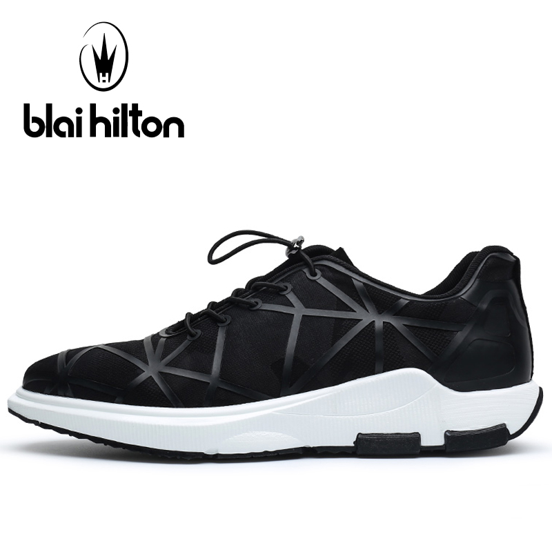 Blaibilton Elastic band Running Shoes Man Brand Summer Men's Sneakers 2017 New Light Weight Breathable Sport Shoes For Men kelme 2016 new children sport running shoes football boots synthetic leather broken nail kids skid wearable shoes breathable 49