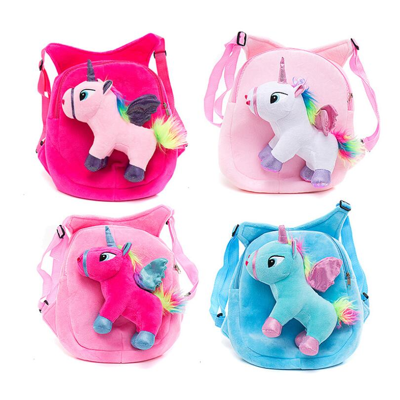 Cute Unicorn Schoolbag Backpack Children Cartoon Plush School Bags For Baby Girls Boys Children Kindergarten Kids Backpacks