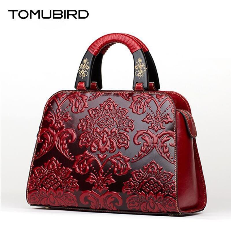 TOMUBIRD new Supérieure peau de vache en cuir Gaufrage célèbre marque femmes Fourre-Tout sac de mode De Luxe femmes en cuir véritable sac sacs à main