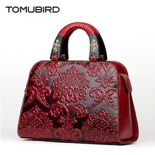 TOMUBIRD new Superior cowhide leather Embossing  famous brand women Tote bag fashion Luxury women genuine leather bag handbags