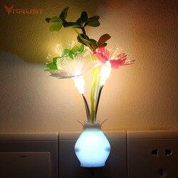 Vitrust-Luz LED nocturna de colores con Sensor de Control, miniseta, iluminación nocturna romántica lila para el hogar, enchufe de EE. UU. Y la UE