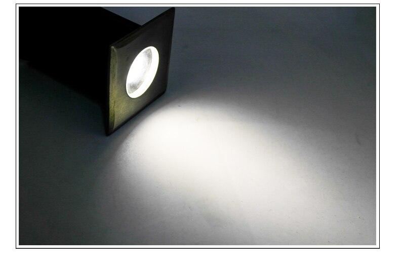 Luminária led embutida para ponto, aço inoxidável