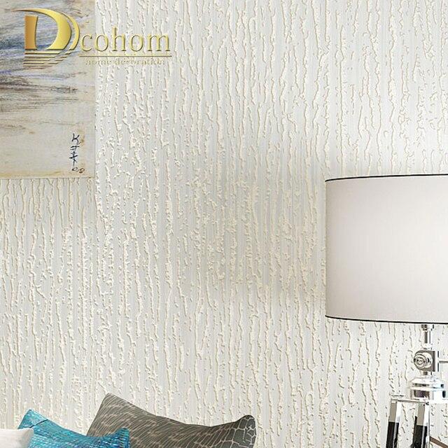 Plain White Gray Modern Textured Embossed 3D Striped Wallpaper Home Decor For Living Room Papel De