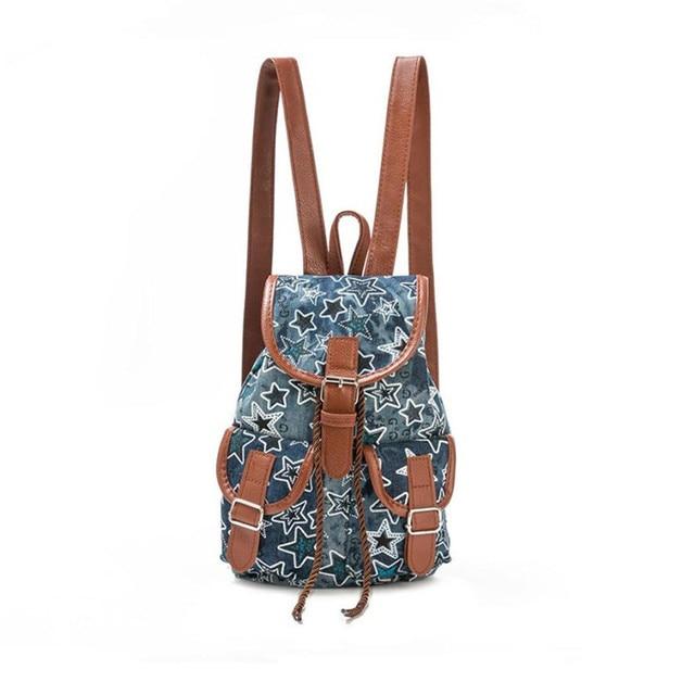 d1c83e7198 Women Stars Printing Drawstring Backpack female Shopping Travel Drawstring  bag Military backpack Backpacks for adolescent girls