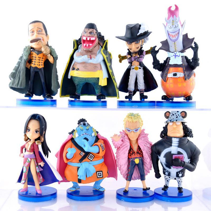 One Piece PVC Action Figure Toys The Seven Warlords of the Sea Dolls Toy Model 8pcs/set Free Shipping  F0089 super heroes thor 2 ii the dark world pvc action figure model toy 1640cm free shipping