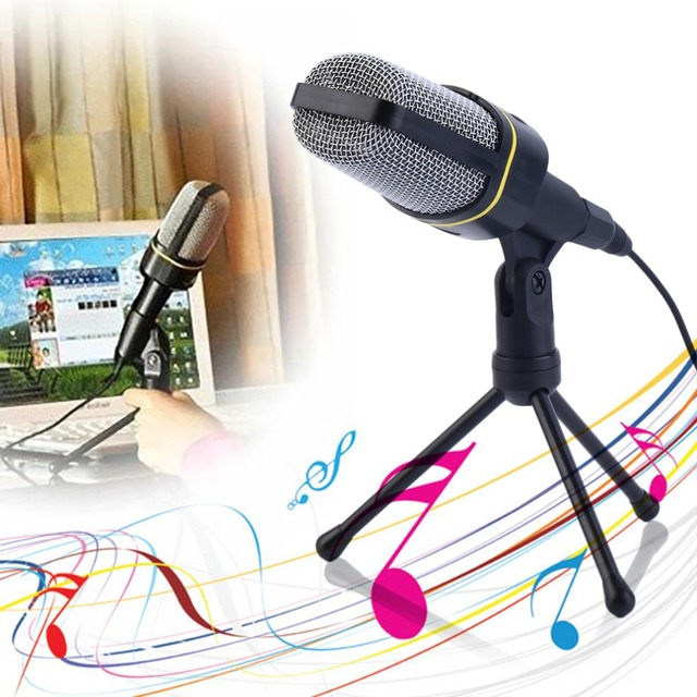 New 3.5mm Studio Professional Microphone for Mic with Stand For Audio Sound Recording Wholesale