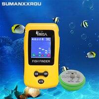 Outlife Smart Portable Fish Finder LCD Display With 100m Wireless Sonar Sensor Echo Sounder Fishfinder For