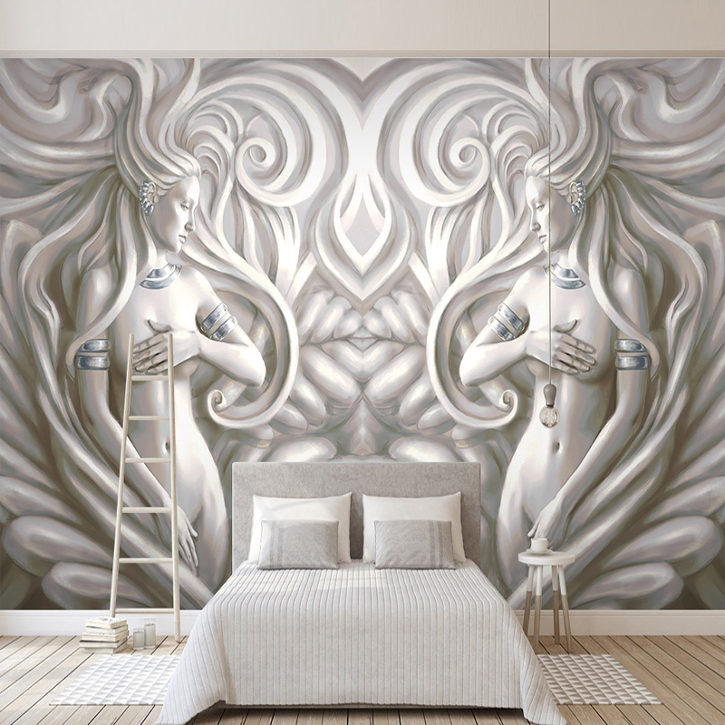 Photo Wallpaper 3D Relief Beauty Sculpture European Style Mural Wall Papers Living Room TV Sofa Bedroom Backdrop Wall Home Decor