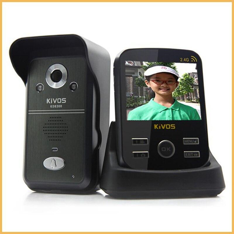 Беспроводной 2.4 г видео телефон двери Комплекты с монитором и открытый станции TF карты рекордер датчик движения домофон Дверные звонки