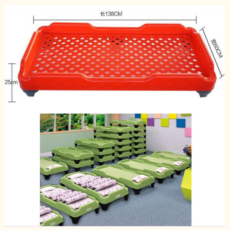 New Plastic Travel Baby Bed For Sleeping Portable Crib Children Lunch Sleeping Bed Nursery Bed Early Education Kindergarten Bed