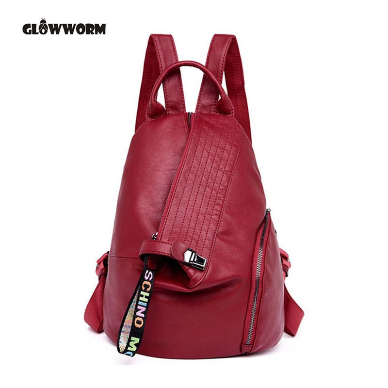 Fashion Genuine Leather Women Backpack Ladies Travel Bags Girl Schoolbag Preppy Style 3 Ways Wearing Fashion Knapsack