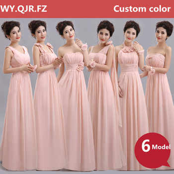 QNZL70F#Halter neck Lace Up Chiffon Purple Champagne nude pink Bridesmaid Dresses Long wholesale Custom wedding party dress girl - Category 🛒 Weddings & Events