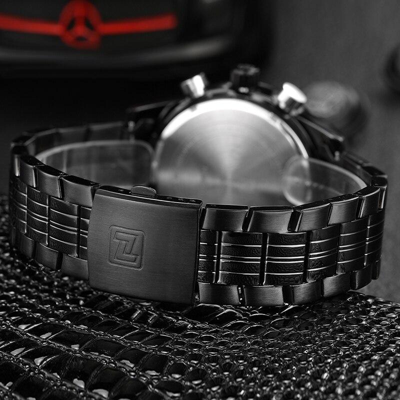 бренд naviforce для мужчин с часы лучший бренд класса люкс черный полный сталь кварцевые часы для мужчин выиграл дело спорт водонепроницаемый светодиодный цифровой мужской наручные часы
