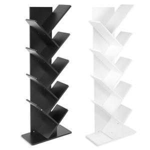 Image 2 - Modern 9 Tier Bookshelf Bookcase Books CDs Display Storage Rack Shelf Organization Cabinet