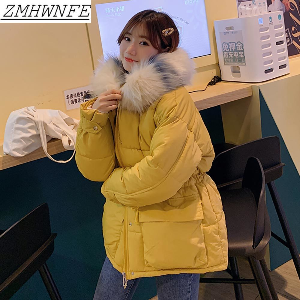 Winter Jacket Women New Fashion Female Winter Coat   Parkas   Thicken Jacket Fur Colla Leisure Warmth Cotton