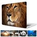 Animal print caso para nuevo macbook pro 13 15 caso 2016 modelo A1706 A1707 con toque Bar & A1708 sin barra táctil