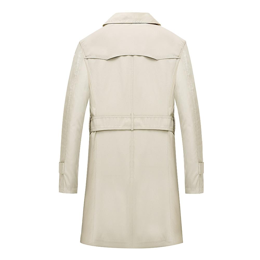 TAIZIQI Longue tranchée manteau hommes épaissir outwear hommes longs manteaux coupe vent décontracté veste manteau chaud pour hommes - 2