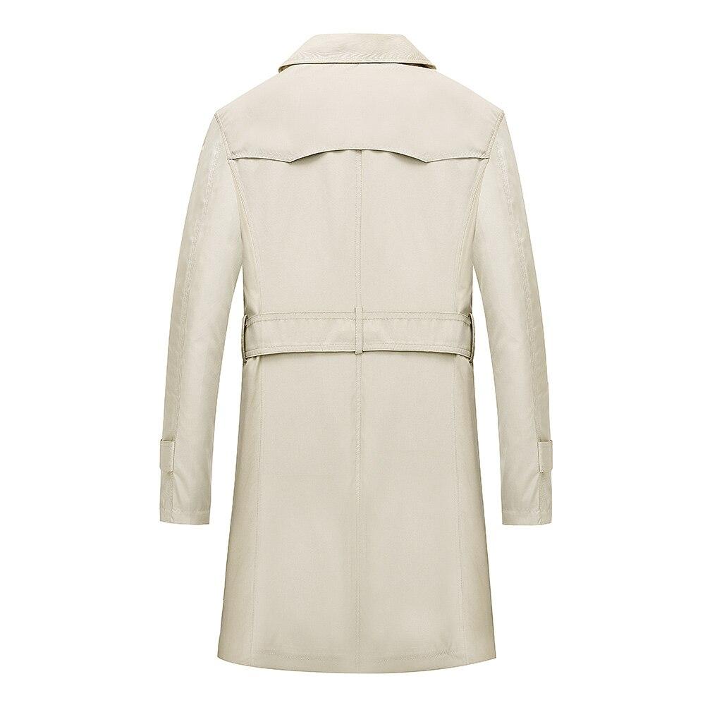 TAIZIQI, длинный Тренч, Мужская Утепленная верхняя одежда, мужские длинные пальто, ветровка, повседневная куртка, теплое пальто для мужчин - 2
