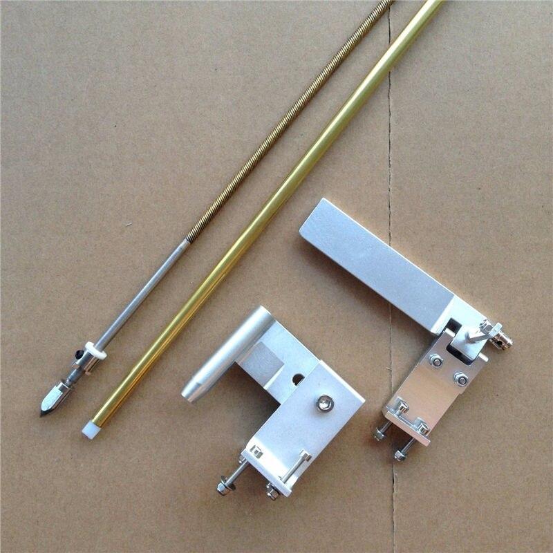 1Set RC Boat Transmission Kit 95mm Steering Rudder 4 76mm Flexible Shaft 4 76mm Shafts Bracket