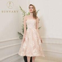 Bordir Sunvary Gaun Perkahwinan Cloze Manik A-Line Lace Vintage Pengantin Pakaian Tingkat panjang Tanpa lengan Empire Tulle Gown
