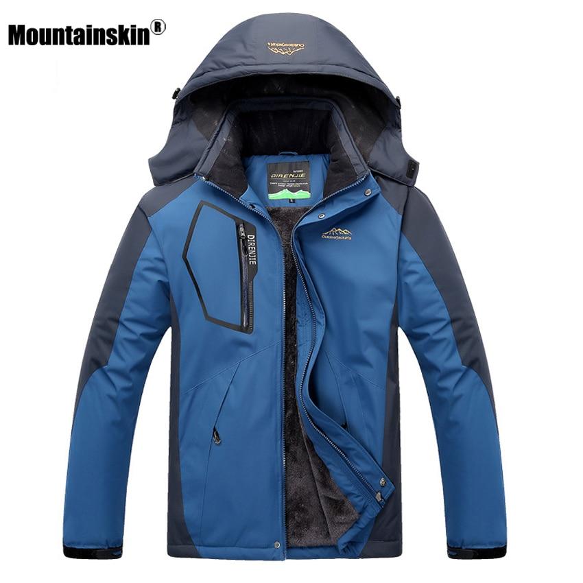 Men's Women's Winter Fleece Waterproof Jacket Outdoor Sportswear Coats Hiking Camping Trekking Skating Female Windbreaker VA184