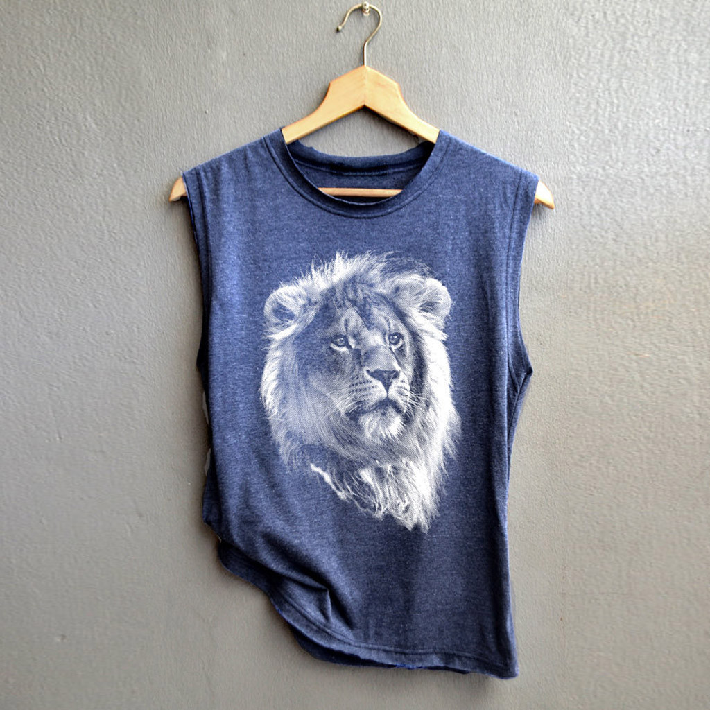Women/'s Vest Cat Printed Sleeveless Tank Tops Loose Fit Casual T-shirts Beach