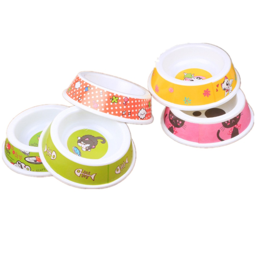 Uncategorized Cute Dog Bowl dogbaby pet bowl grade material melamine dog bowls smooth brim protect mouth and skin print cute pattern feeder for dogs cats in dog