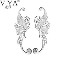 V. Я натуральный CZ Хрустальная бабочка, серьги Pattern 100% стерлингового серебра 925 Серьги для женщин S925 насыщенный Серебряный Стад Серьги