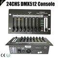 Мини 24 канала простой DMX контроллер 24CHS сценический Dj диско свет фейдер консоль с заряжаемой литиевой батареей